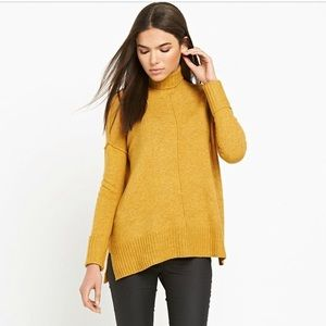 River island mustard yellow turtleneck